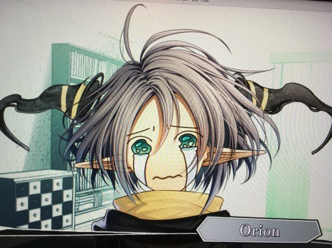 Orion's face throughout most of Toma's route.